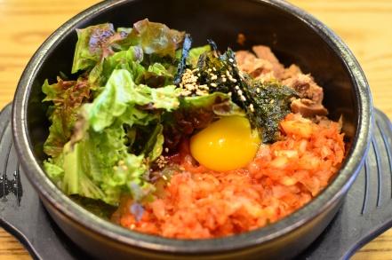 Chamchi kimchi dolsotbibimbap